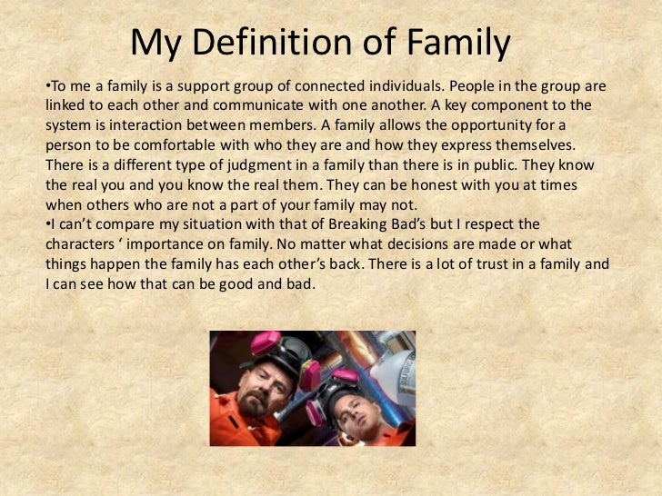 my definition of family essay