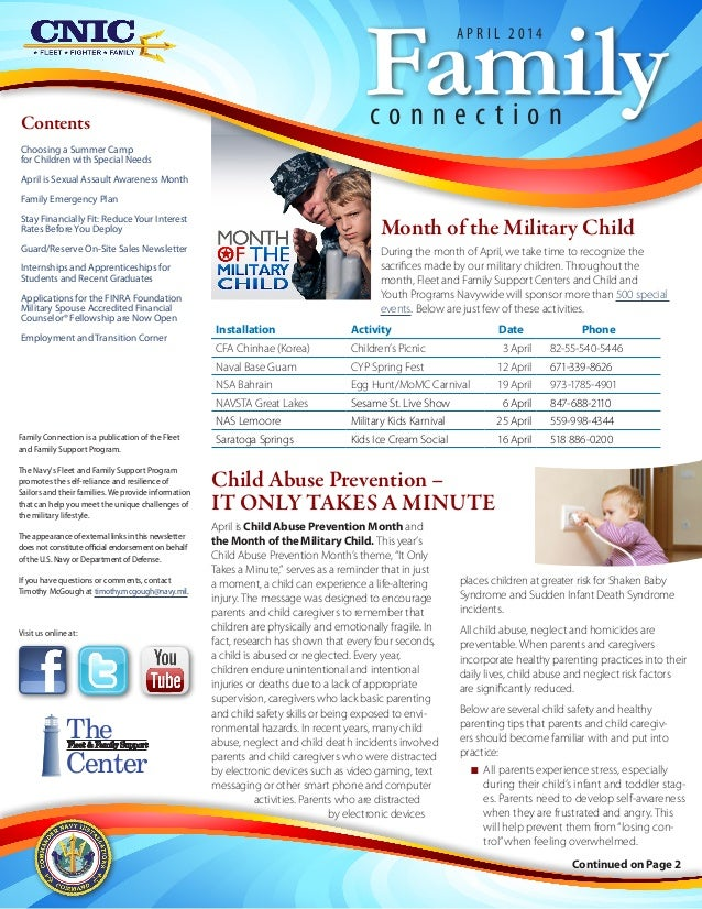 Continued on Page 2 Contents Choosing a Summer Camp for Children with Special Needs April is Sexual Assault Awareness Mont...