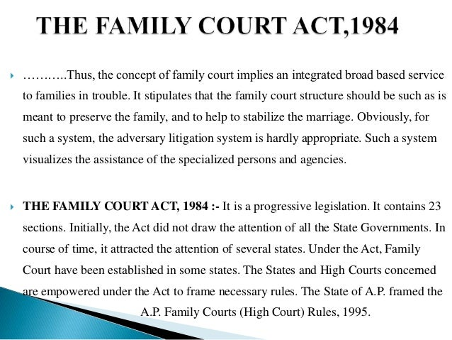 family courts act 1984 pdf