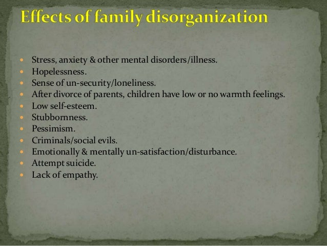 family disintegration causes