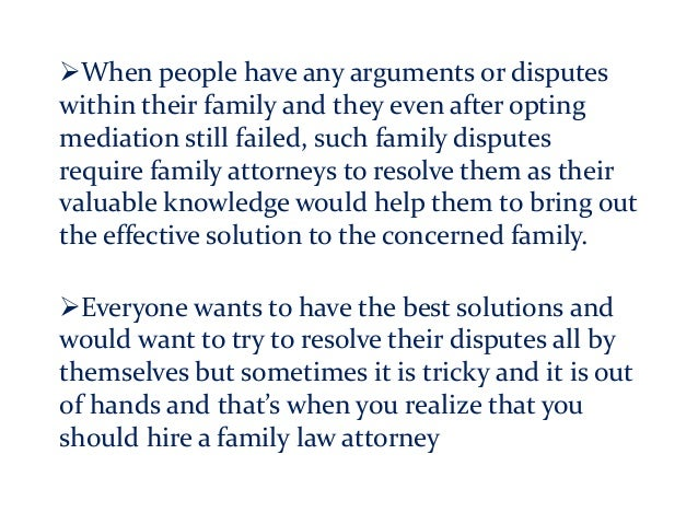 When people have any arguments or disputes within their family and they even after opting mediation still failed, such fa...
