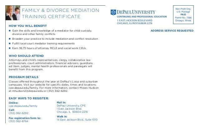 Family & Divorce Mediation Training Certificate Program 2013