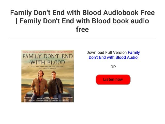 family don t end with blood book free download