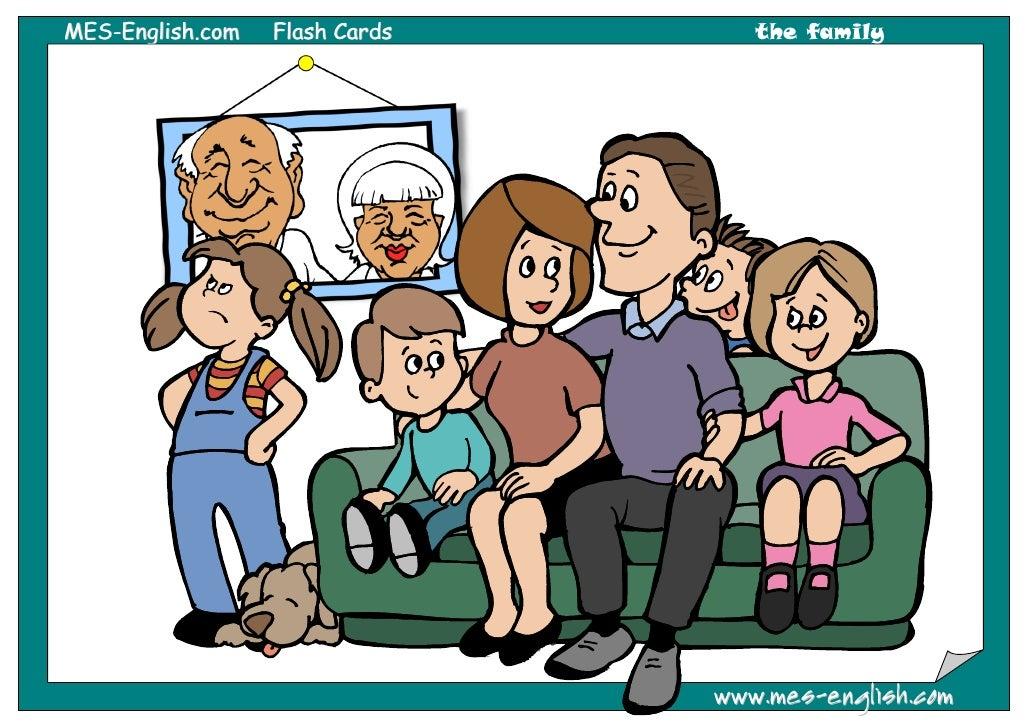 MES-English.com   Flash Cards      the family                                www.mes-english.com