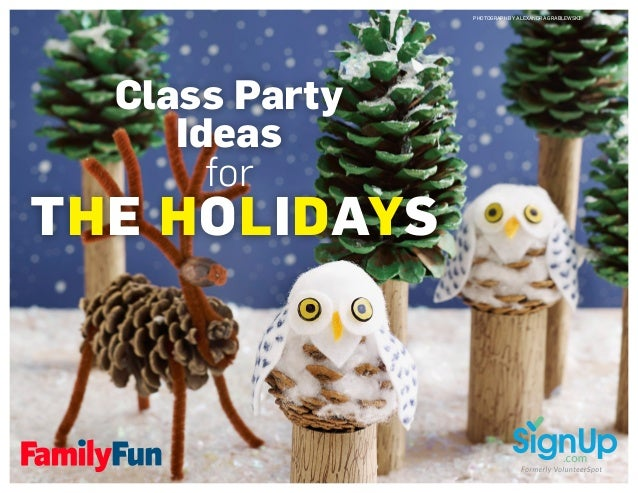 Class Party Ideas for THE HOLIDAYS PHOTOGRAPH BY ALEXANDRA GRABLEWSKI