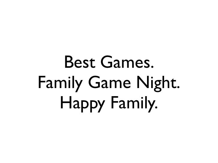 Best Games.Family Game Night.  Happy Family.