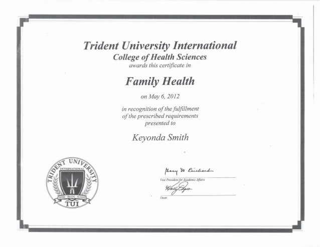 Post Baccalaureate Certificate - Family health