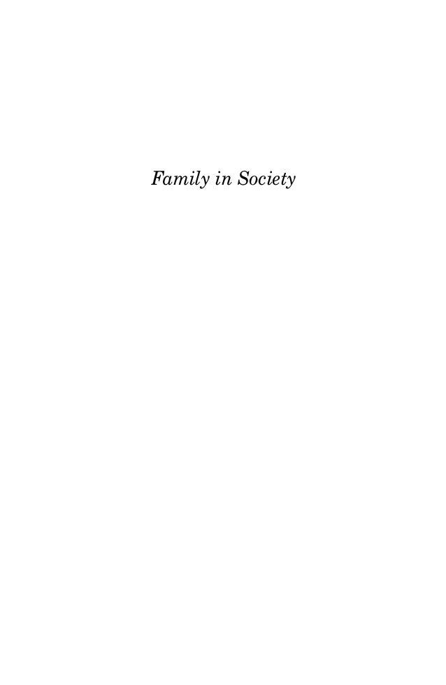 Family in Society