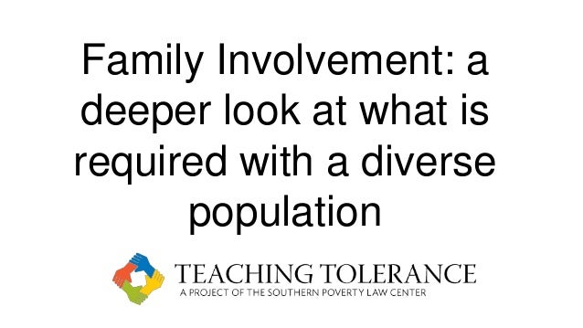 Family Involvement: a deeper look at what is required with a diverse population