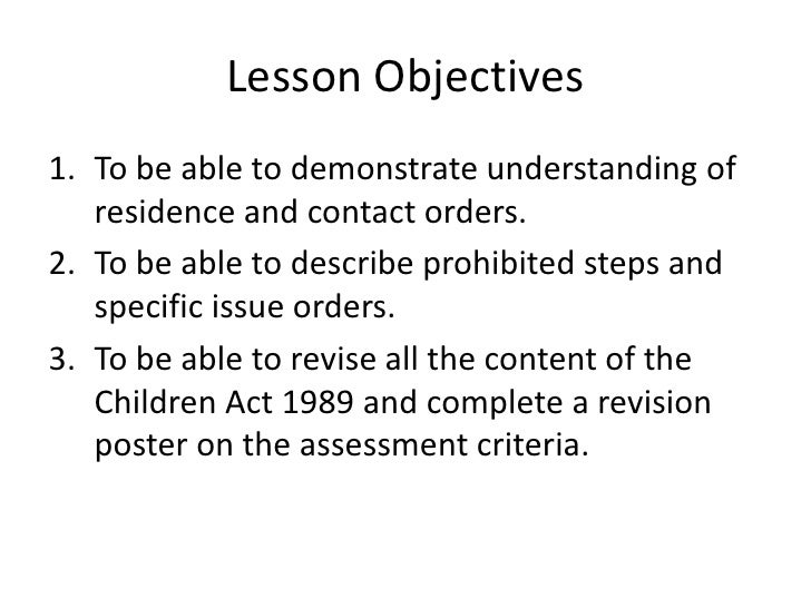 an analysis of the children act of 1989 Out in sections 20 and 21 of the children act 1989, or is placed in the care of   disagreement between practitioners about the interpretation of the known facts.