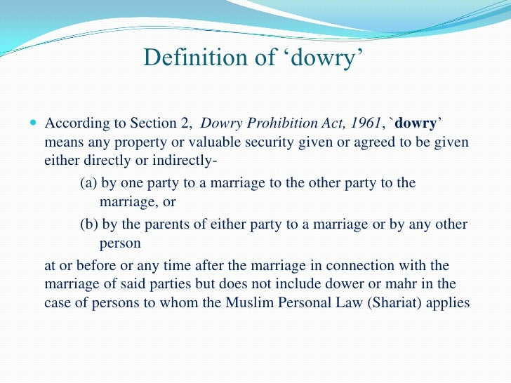 questionnaire on dowry