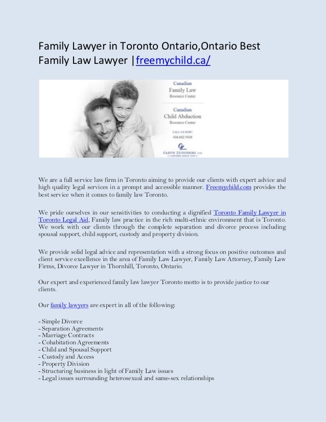 Divorce in ontario without a lawyer
