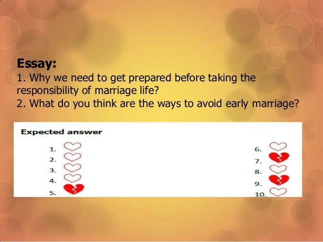 advantages and disadvantages of early marriage Essay on disadvantages of early marriage, disadvantages of early marriage only available on studymode essay on early marriagewhat do you think about marriage.