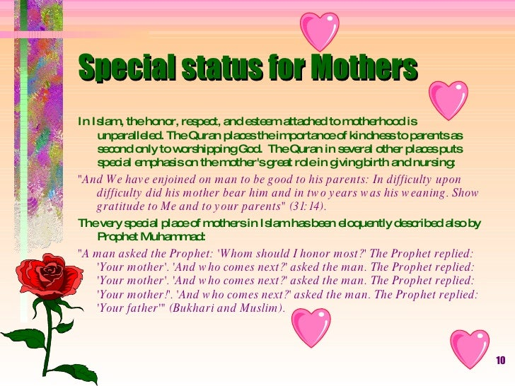 importance of nursing in islam Several islamic beliefs will affect muslim patients' attitudes and behavior in nursing homes, hospital and community settings it is important for nurses to have understanding of these so they can offer culturally appropriate care while performing muslims elderly care.