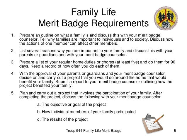 Family life meritbadge – Family Life Merit Badge Worksheet