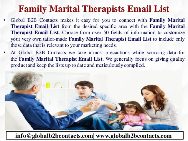 Family Marital Therapists Email List • Global B2B Contacts makes it easy for you to connect with Family Marital Therapist ...
