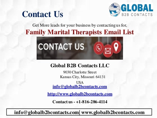 Contact Us Get More leads for your business by contactingus for, Family Marital Therapists Email List Global B2B Contacts ...