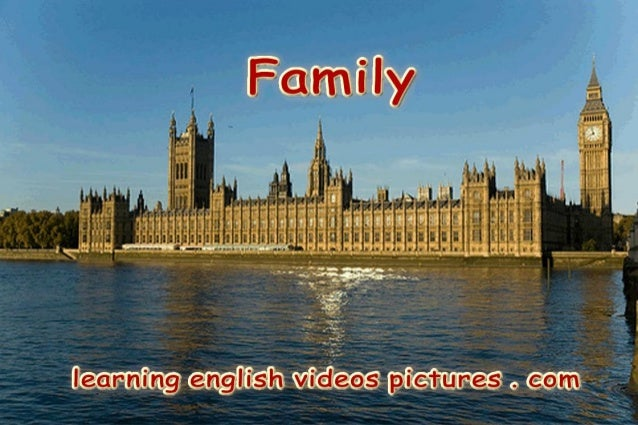 Family members vocabulary video and pictures