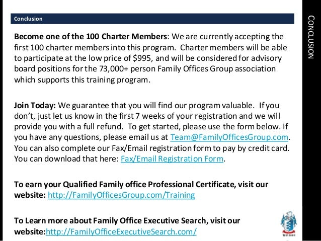 Family office certificate how to start a family office - Qualified family office professional ...
