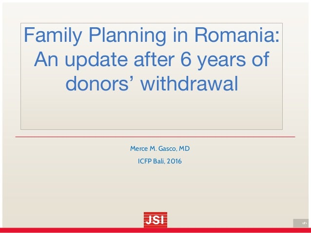 Family planning in romania an update after 6 years of for Family planning com