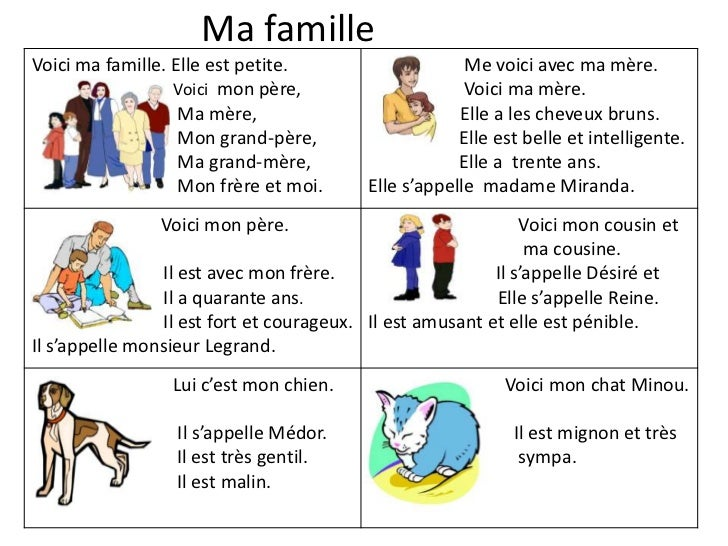 Ma famille<br />