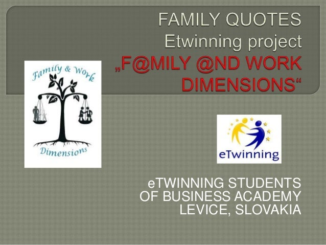 eTWINNING STUDENTS OF BUSINESS ACADEMY LEVICE, SLOVAKIA