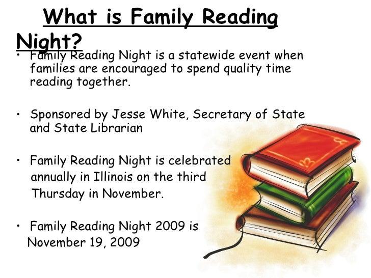 Family Reading Night Presentation