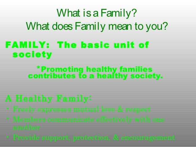 Relationships within a family essay