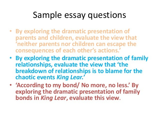 family relationships in lear lear 13 sample essay