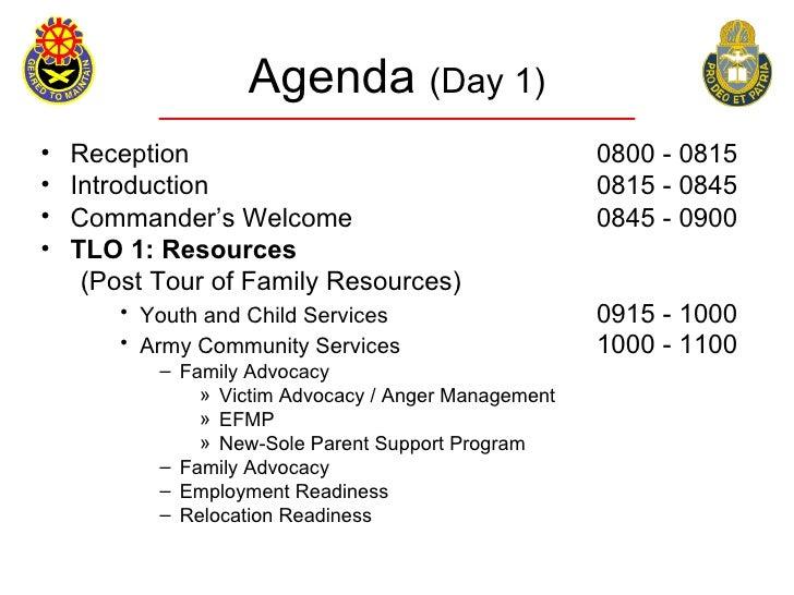 Agenda (Day 1) •   Reception                                         0800 - 0815 •   Introduction                         ...