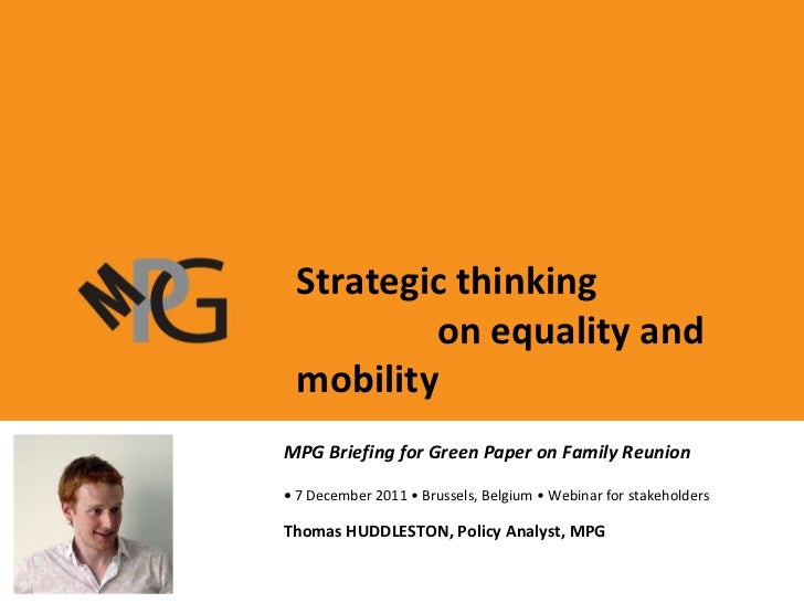 MIPEX: policy indicators and a joined-up approach to policy evaluation in Europe • 27 February 2008 • Prague Presentation ...