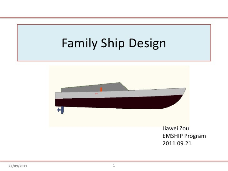 Family Ship Design<br />JiaweiZou<br />EMSHIP Program<br />2011.09.21<br />1<br />22/09/2011<br />