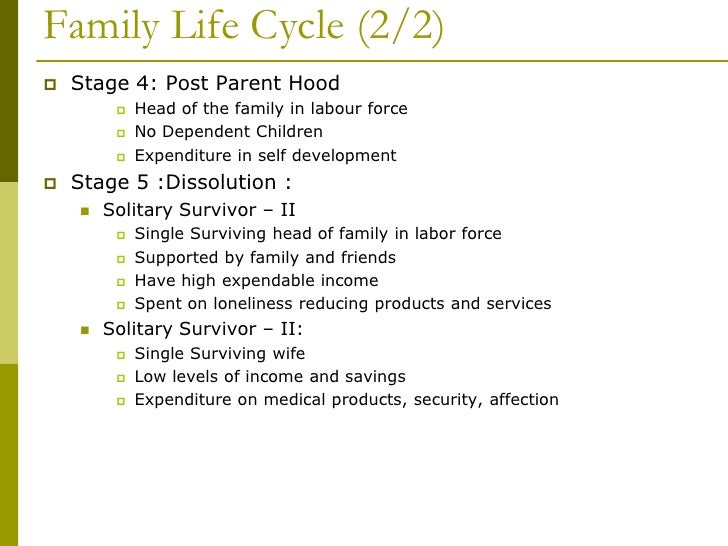 essay on the family life cycle The life cycle of a record comprises just four stages ie creation, usage, storage, destruction anticipatory socialization and life cycle planning.