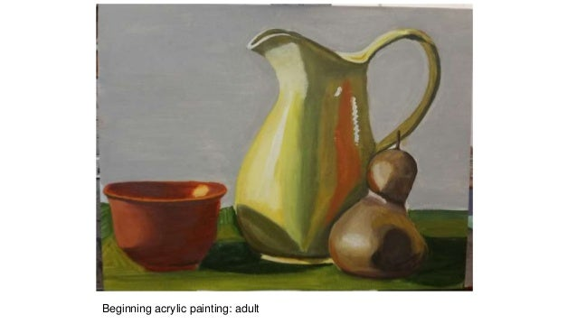 Beginning acrylic painting: adult
