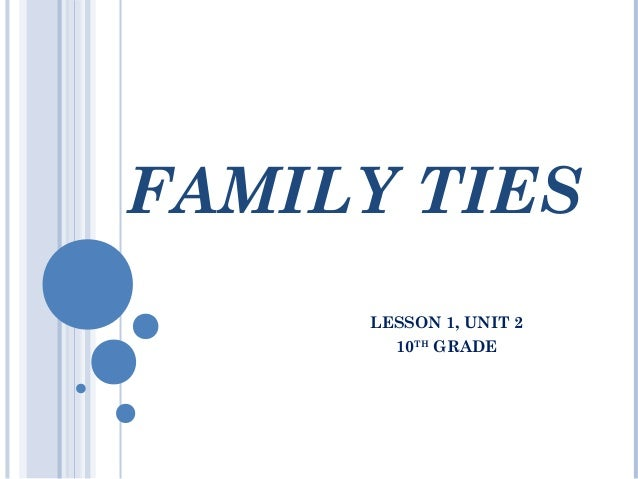 FAMILY TIESLESSON 1, UNIT 210THGRADE