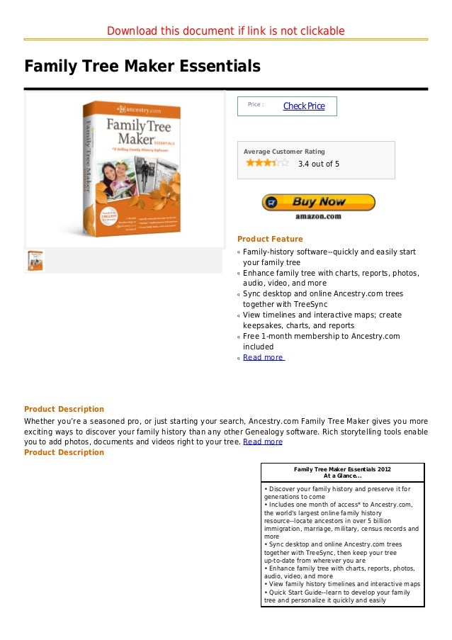 Download this document if link is not clickableFamily Tree Maker Essentials                                               ...