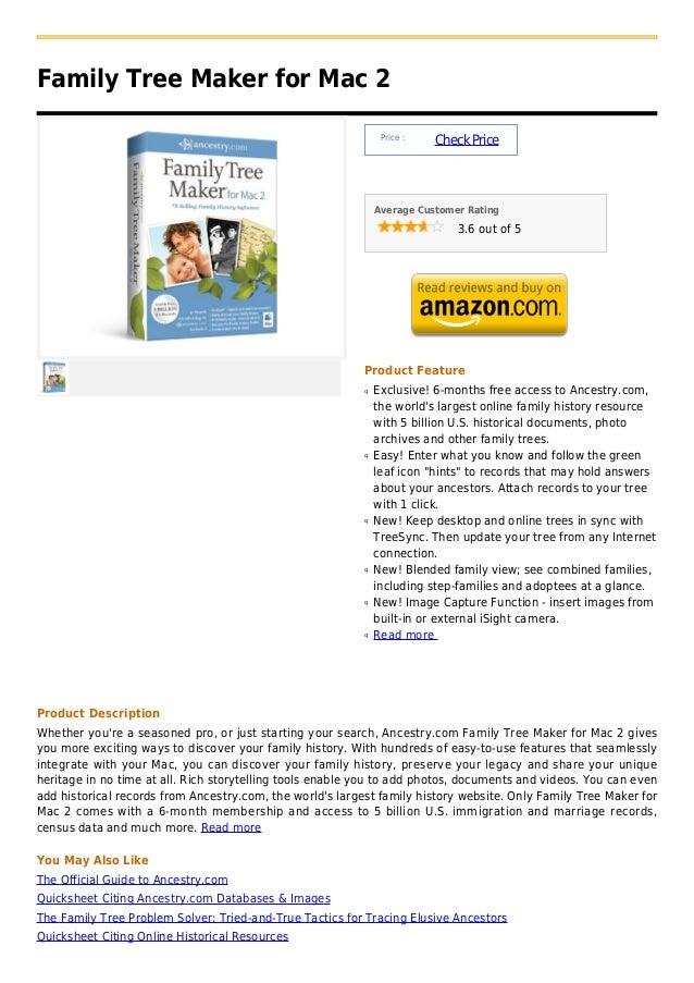Family Tree Maker for Mac 2                                                                Price :                        ...