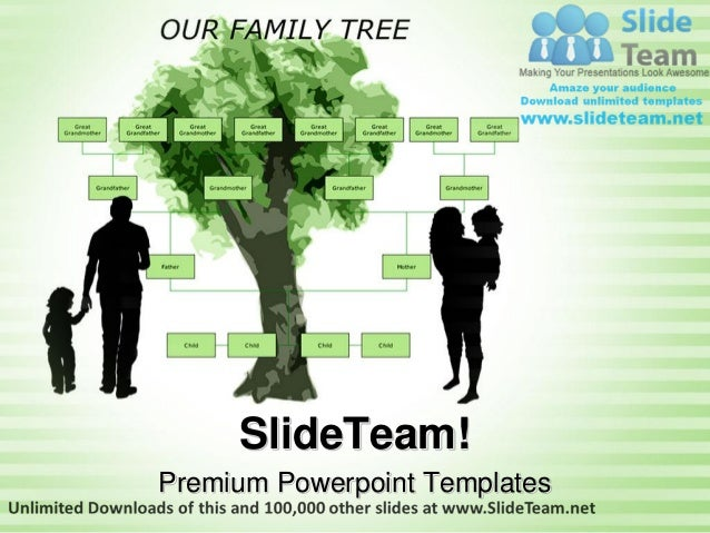 Family Tree Metaphor Power Point Themes Templates And Slides Ppt Layo