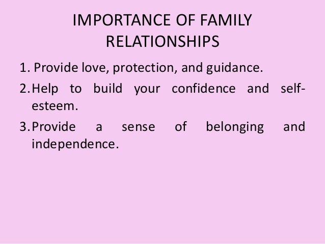 essay about the importance of family values Family values and relationships essaysthe word family is one of the greatest words in the world the family is the building block of the community and if it is happy.