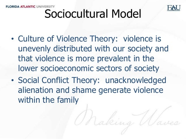 psychological and sociological theories of domestic Sociological theories of intimate partner violence seek to explain violent behavior  as a function of social structures rather than individual.