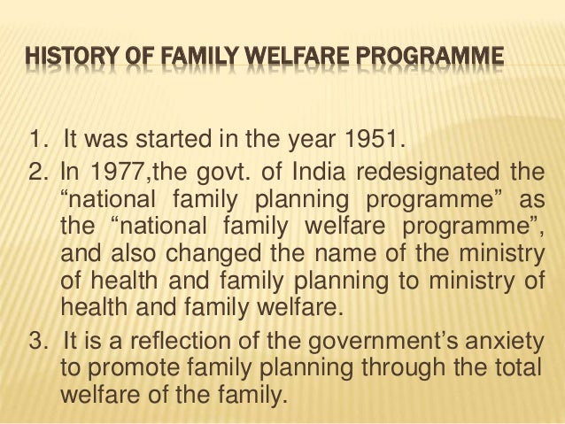 national family welfare