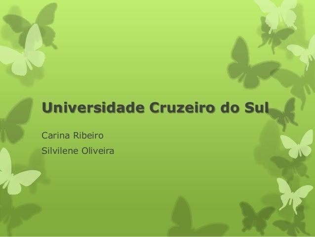 Universidade Cruzeiro do Sul Carina Ribeiro Silvilene Oliveira