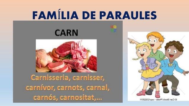 FAMÍLIA DE PARAULES