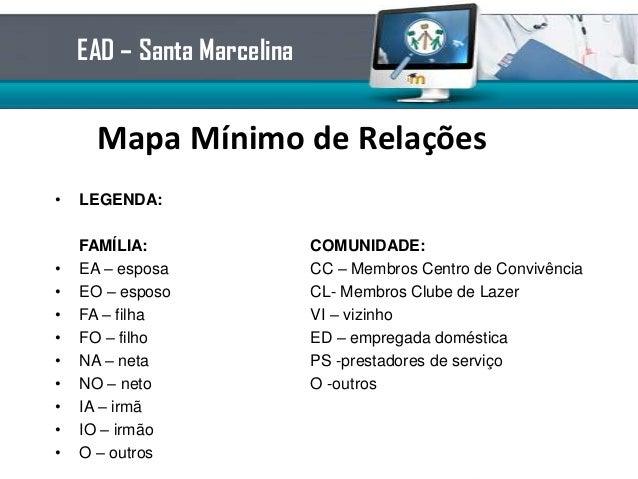 Mapa Mínimo de Relações• LEGENDA:FAMÍLIA: COMUNIDADE:• EA – esposa CC – Membros Centro de Convivência• EO – esposo CL- Mem...