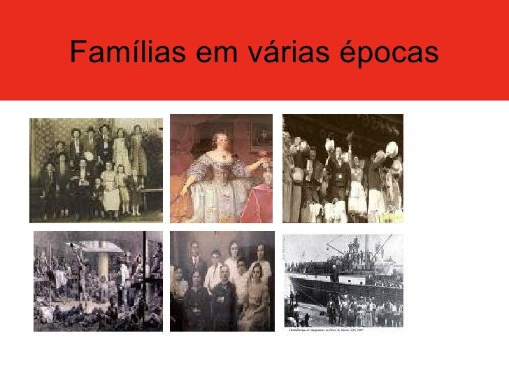 Famílias em várias épocas