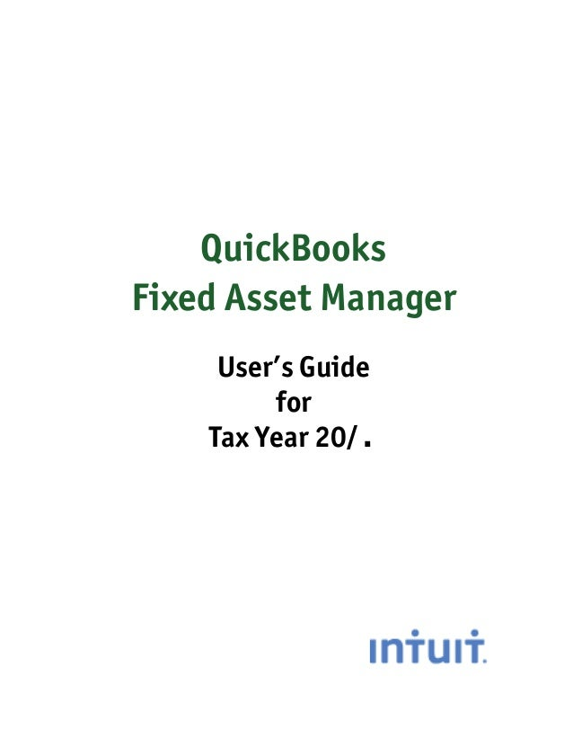 Quickbooks Fix Asset Manager