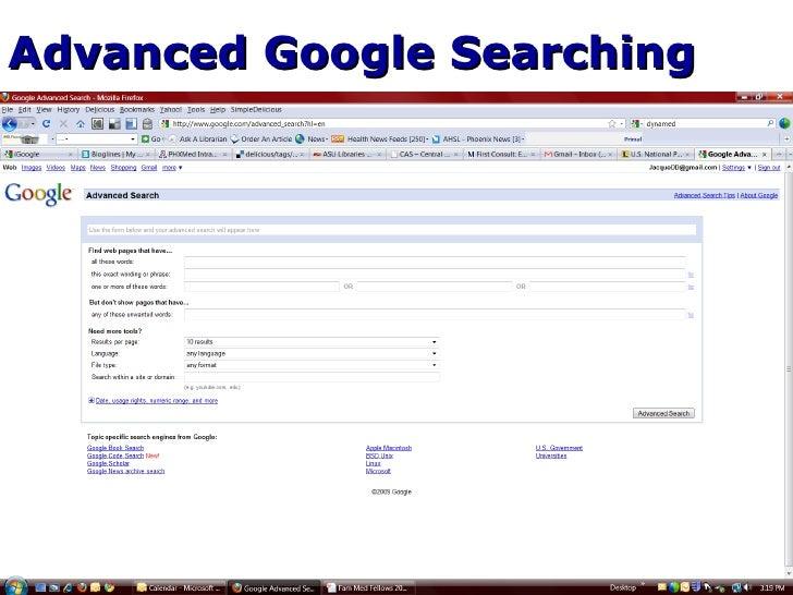 ... 15. Advanced Google ...