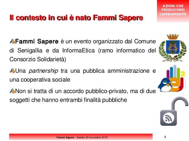 Fammi Sapere - 1 - Presentazione di InformaEtica Slide 2