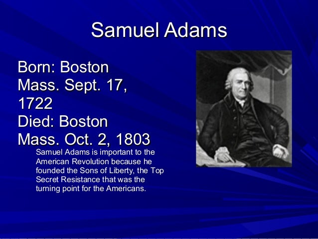 Famous people-of-the-american-revolution