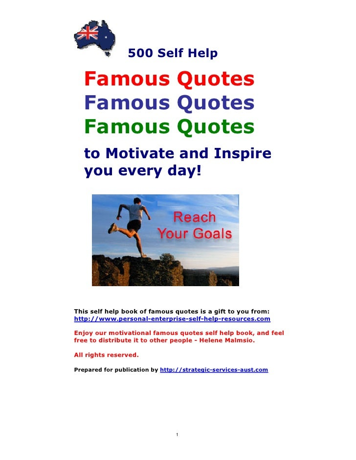 Famous Quotes Self Help Book